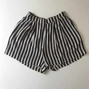 H&M B&W Striped Shorts